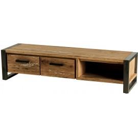 Meuble tv 2 tiroirs 1 niche - Toronto Casita