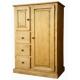 Armoirette pin massif 2 portes 3 tiroirs - Val d'isère