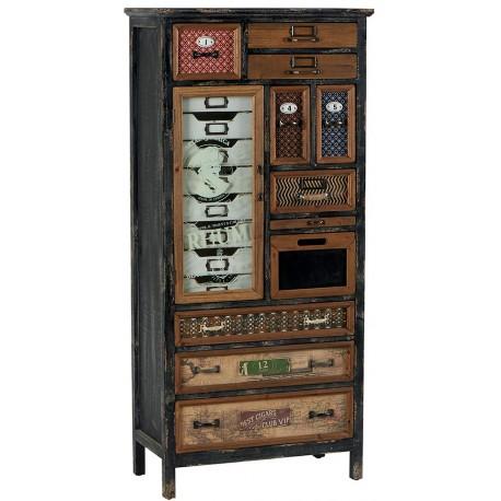 Armoire déco 18 tiroirs 1 porte -Harold Casita