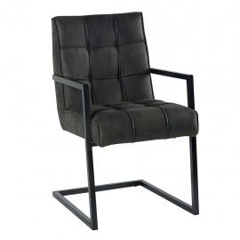 Chaise accoudoir recouvrement gris