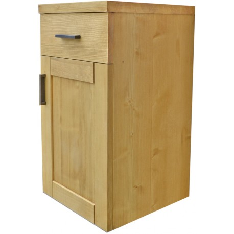 Meuble bas salle de bain à suspendre 1 porte 1 tiroir