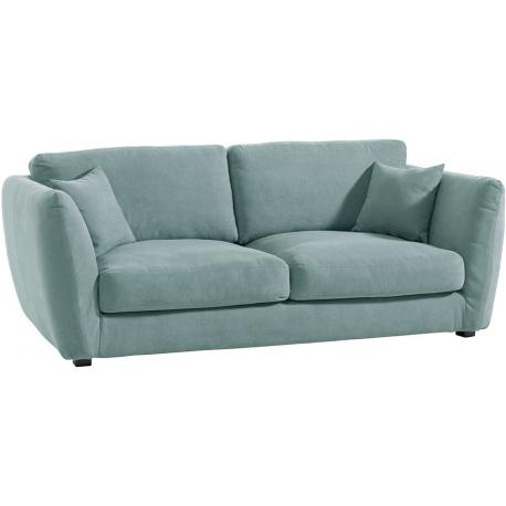 Canapé 3 places tissu vert d'eau - Soring Casita