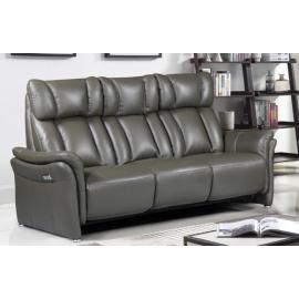 Canapé 3 places 2 relax cuir gris