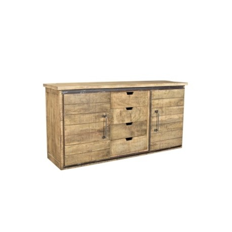 Buffet Olissan 2 portes finition naturel tabac