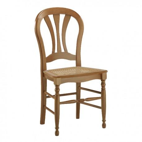 Chaise hêtre 3 barrettes avec assise en paille