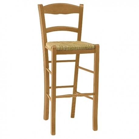 Chaise haute pour bar finition hêtre doré
