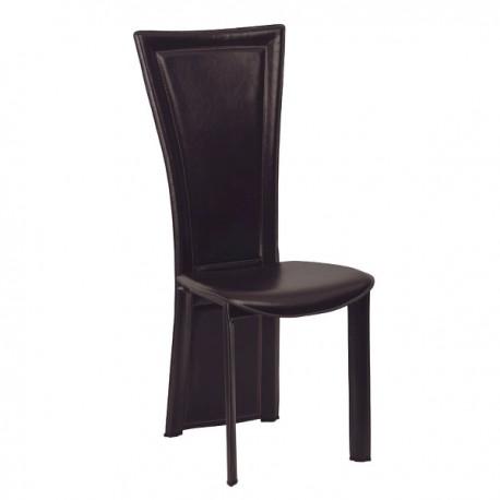 Chaise Joana finition cuir noir