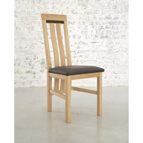 Chaise Montreal aspect brut assise grise