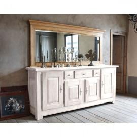 Miroir Annoeuline pour buffet 3 portes finition chêne doré