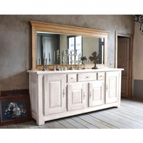 Miroir Annoeuline 230 pour buffet 4 portes finition chêne doré