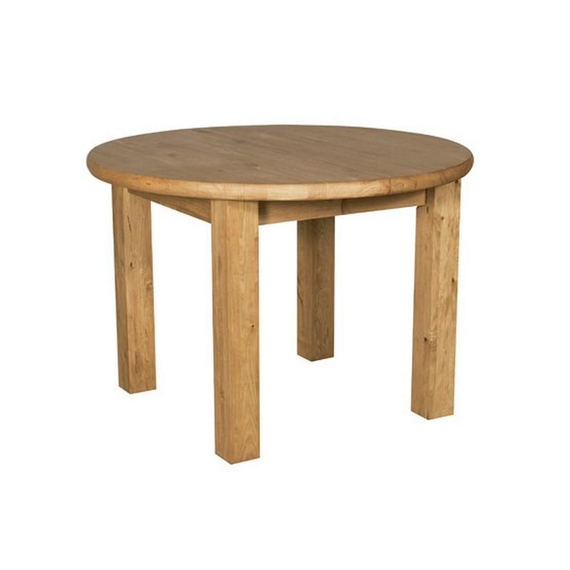 table ronde 110 pieds carr s allonge brunswick casita. Black Bedroom Furniture Sets. Home Design Ideas