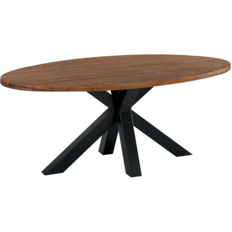 Table ovale teck recyclé 190 - Bailey Casita