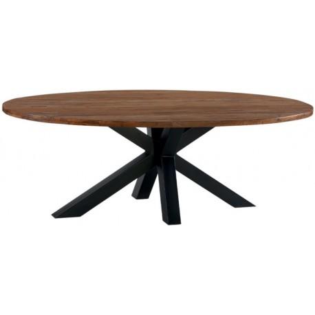 Table ovale 230 teck massif recyclé - Bailey Casita