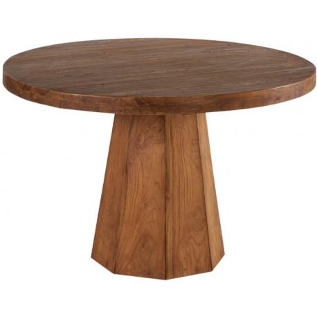 Table ronde 120 en teck massif recyclé - Bailey Casita