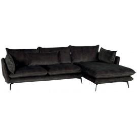 Canapé angle droit 100% polyester gris - Eden Casita