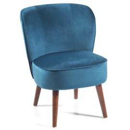 Fauteuil tissu polyester bleu pétrole - Aros Casita