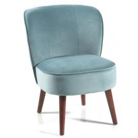 Fauteuil tissu polyester bleu - Aros Casita