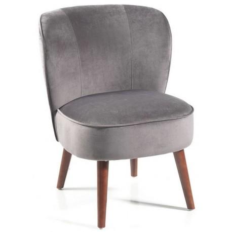 Fauteuil tissu polyester gris - Aros Casita