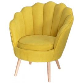 Fauteuil jaune safran - THRONE
