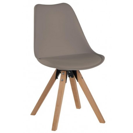 Chaise couleur café pieds hêtre - Benny Casita