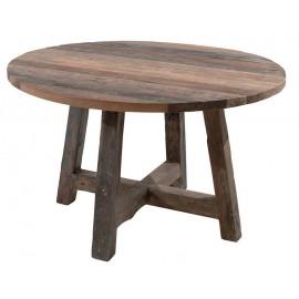 Table ronde 140 teck recyclé - Andoma Casita