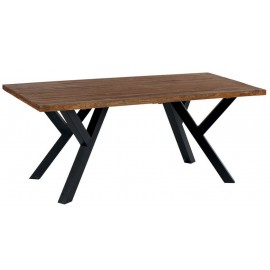 Table rectangulaire teck naturel pieds métal - Bello Casita