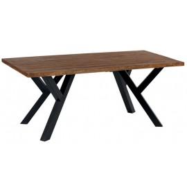 Table rectangulaire 240 teck et pieds métal - Bello Casita