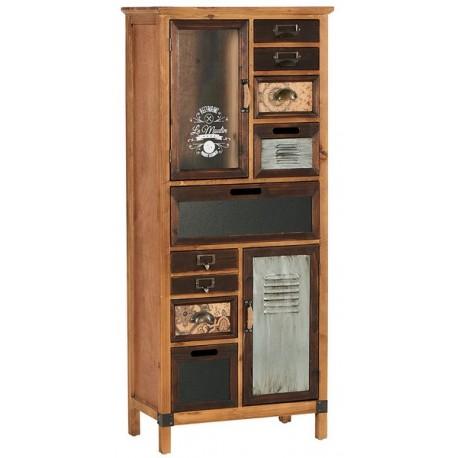 Armoire 2 portes 8 tiroirs - Harold Casita