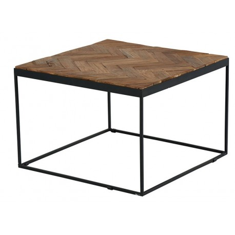 Table basse carrée teck recyclé - Amki Casita