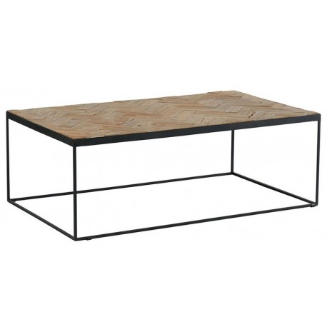Table basse rectangulaire teck recyclé - Amki Casita