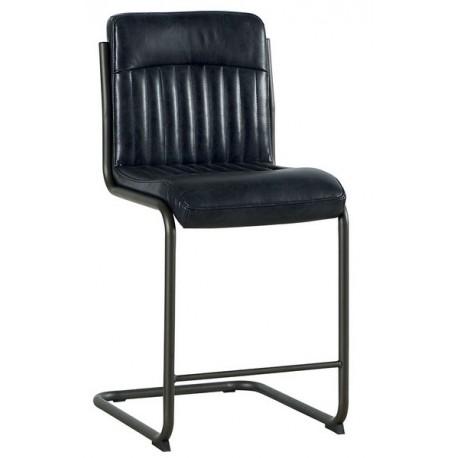 Chaise de bar P.U. gris foncé - Casita