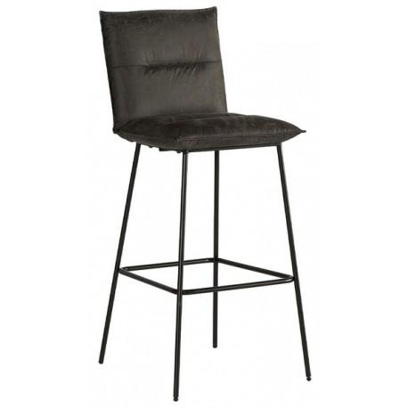 Chaise de bar tissu havane - Casita