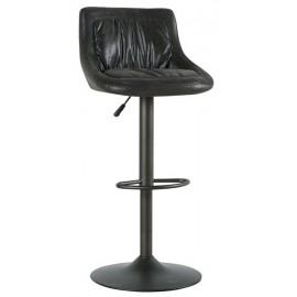 Chaise de bar gris foncé réglable - Nashville Casita