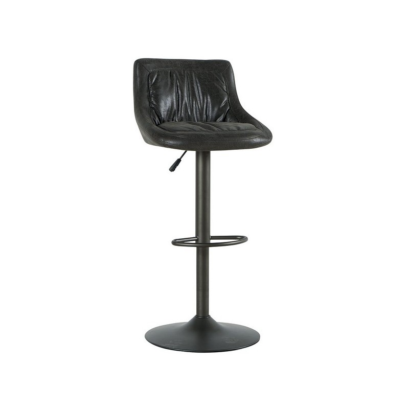 chaise bar reglable gris foncé