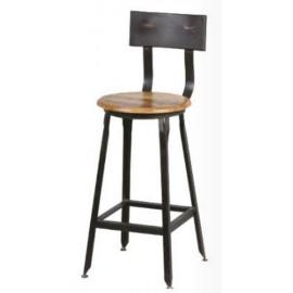 Chaise pour ilot de cuisine fer et bois