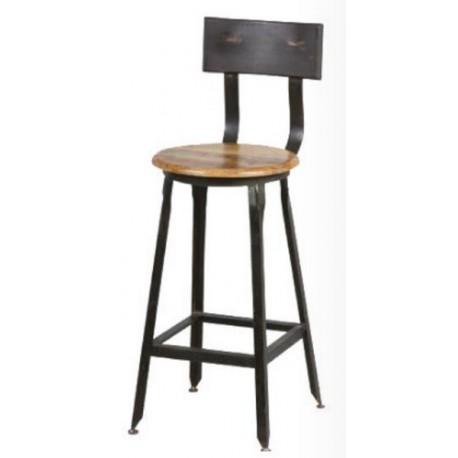 Chaise pour ilot de cuisine fer et bois - Casita