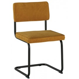 Chaise fer et tissu jaune - Brampton Casita