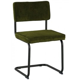 Chaise piétement fer et tissu vert - Brampton Casita