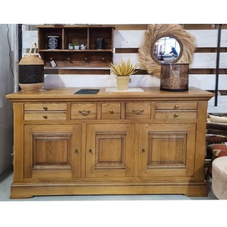 Buffet 3 portes 3 tiroirs chêne massif - Benodet Zagas