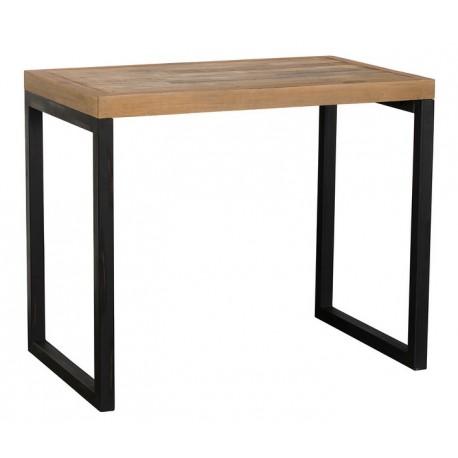 Table mange debout bois recyclé en 1m20