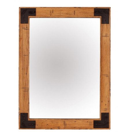 Miroir rectangulaire bois recyclé - Baker