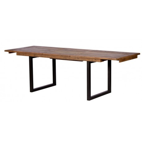 Table avec allonge en bois recyclé - Baker