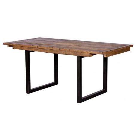 Table 1m40 avec allonge en bois recyclé - Baker