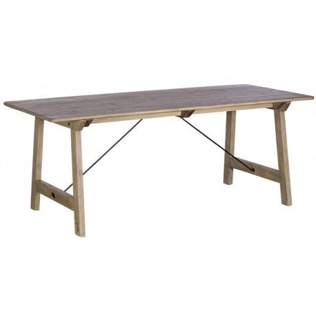 Table rectangulaire 2m00 bois recyclé - Valetta