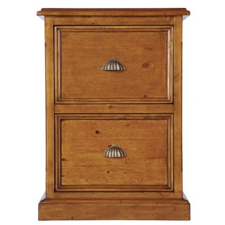 Caisson 2 tiroirs en bois massif - Office