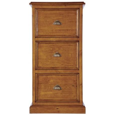 Caisson 3 tiroirs en bois massif - Office