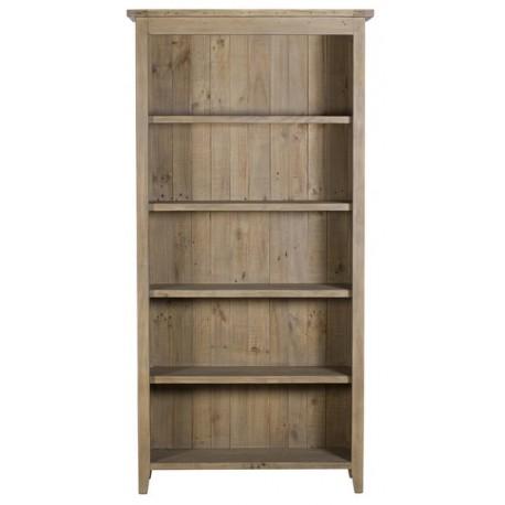 Bibliothèque 4 étagères fixes bois massif recyclé - Valetta