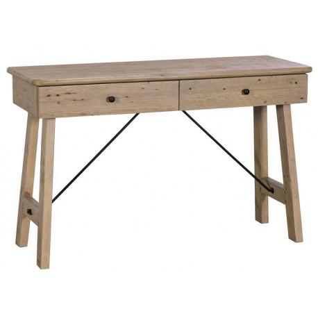 Console 2 tiroirs en bois massif recyclé - Valetta