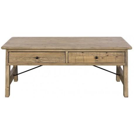 Table basse 4 tiroirs bois recyclé - Valetta