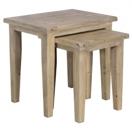 Tables gigognes en bois recyclé - Valetta